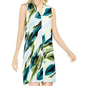 Vince Camuto Breezy Leaves Printed Dress